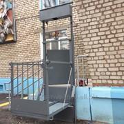 Вертикальный подъемник для инвалидов со складной платформой ПВ-1-04 фото