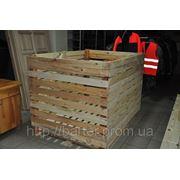 Контейнер деревянный для овощей и фруктов фото