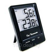 Комнатно-уличный термометр TM1026 чёрный фото