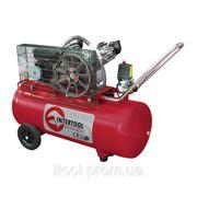 Компрессор 100л, 4HP, 3кВт, 220В, 8атм, 500л/мин, 2 цилиндра Intertool PT-0014 фото