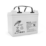 Аккумуляторная батарея AGM RITAR RA12-33, Gray Case, 12V 33.0Ah ( 195 x 130 x155 (168) ) Q1 фото