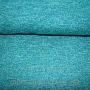 Трикотажная ткань меланжевая( морская волна) фото