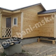 Деревянная одноэтажная баня Б 32 фото