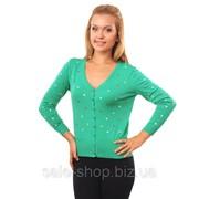 Кофта разноцветные сердца зеленый Артикул 163 фото