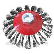 Щетка коническая, плетеная проволока (сталь) 100,115,125мм. фото