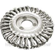 Щетка круглая для УШМ, витая проволока (сталь) 100,125,150,200 мм фото