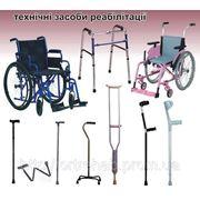 Інвалідний візок, ходунки, милиці, палиці, технічні засоби реабілітації фото