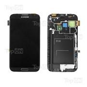 Матрица и тачскрин (сенсорное стекло) в сборе для смартфона Samsung Galaxy Note 2 GT-N7100, с рамкой фото
