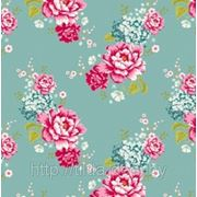 Ткань Тильда Flowerpatch Teal фото