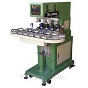 Четырехкрасочный станок тампонной печати SPM4-250/16T фото
