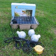 Комплект автономного освещения на солнечной батарее фото