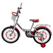 Велосипед PROFI UKRAINE детский 16 д. P1659 UK-2 (1шт) бел-кр,зв,зер,корз,пр кол,в кор-ке,69-16-41см фото