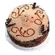 Торт бисквитный шоколадный Кофе шерри фото