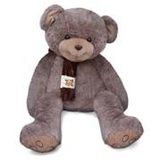 Большой плюшевый медведь Длинноногий шоколадно-серый фото