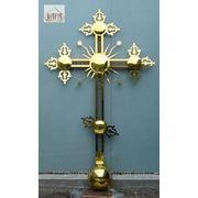 Крест нержавеющий покрытый нитридом титана под цвет золота фото