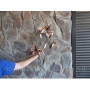 Декоративное, металическое, настенное украшение в виде цветка ЛИЛИИ фото
