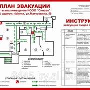 Планы эвакуации, паспорта объектов, схемы движения фото