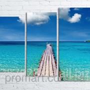 Модульна картина на полотні Морський міст код КМ80106-042 фото