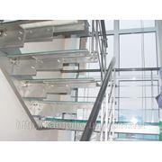 Стеклянные ступени лестниц фото