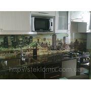 Стеклянный кухонный фартук купить в Евпатории фото