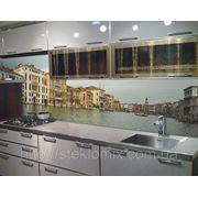 Стеклянный кухонный фартук купить в Алуште фото