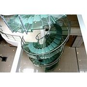 Перила из нержавеющей стали со стеклом фото