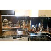 Стеклянный кухонный фартук Night City купить в Павлограде фото
