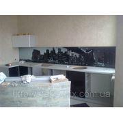 Стеклянный кухонный фартук купить в Полтаве фотография