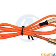Аудио-кабель 3,5мм оранжевый (CBA70-35-10OG) WIIIX 1 m AUX фото