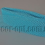 Сетка голубая с люрексом для бантов и декораций 8см/25ярд 570576 фото