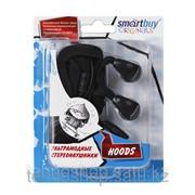 Внутриканальные стерео наушники SmartBuy® HOODS, провод-шнурок 1.5м, черные SBE-3600/200/35 фото