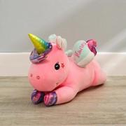 Мягкая игрушка «Единорог», лежачий, со звездами, 40 см фото