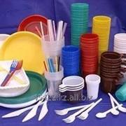 Одноразовая пластиковая посуда фото