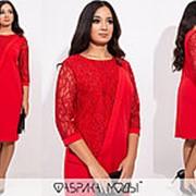 Платье женское с гипюром НВ/-4119/1 - Красный фото