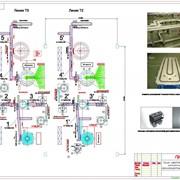 Конвейерная система сборки люминесцентных ламп фото