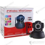 Автономная поворотная беспроводная IP камера WI-FI/LAN с системой ночного видения фото