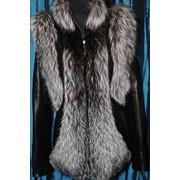 Кожаная куртка с мехом - Жилет фото