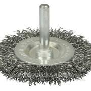 Щетка Stayer дисковая 2-рядная для дрели, витая латунир сталь провол 0,3мм,100мм Код:3520-100-2 фото