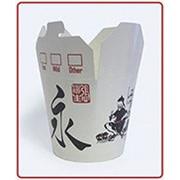 Коробочки бумажные для китайской лапши китай 1000мл. 32oz фото
