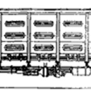Перевозки грузовые 4-осным полувагоном, модель 12-753 фото