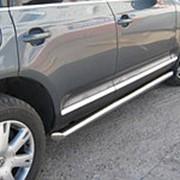 Пороги VW Touareg 2006-2009 (вариант 1 труба 63 мм) фото
