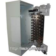Настенная металлическая коробка с замком, монтажная рейка под 11 плинтов 375*205*120 фото
