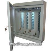 Настенный металлический шкаф с замком на 20 плинтов 500*450*130 фото