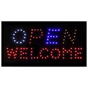 Светодиодная табличка OPEN WELCOME фото