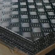 Алюминиевый лист рифленый 4 мм Резка в размер. Доставка Большой выбор. фото