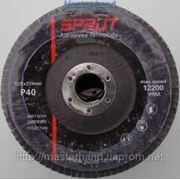 Круг лепестковый торцевой Sprut 125х22 мм P40 фото