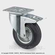 Колеса промышленное поворотное с тормозом DVR фото