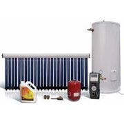 Круглогодичный солнечный водонагреватель на 150 литров горячей воды в сутки, с монтажом фото