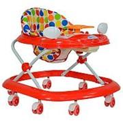 FARFELLO Детские ходунки Farfello арт.5020 (6шт в коробке) красный, принт круги фото