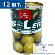 """Оливки """"SLER"""" без косточки фото"""